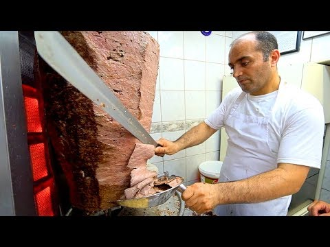 Istanbul Street Food : The BEST Döner Kebab In TURKEY (UP CLOSE)!! TURKISH STREET FOOD In Istanbul