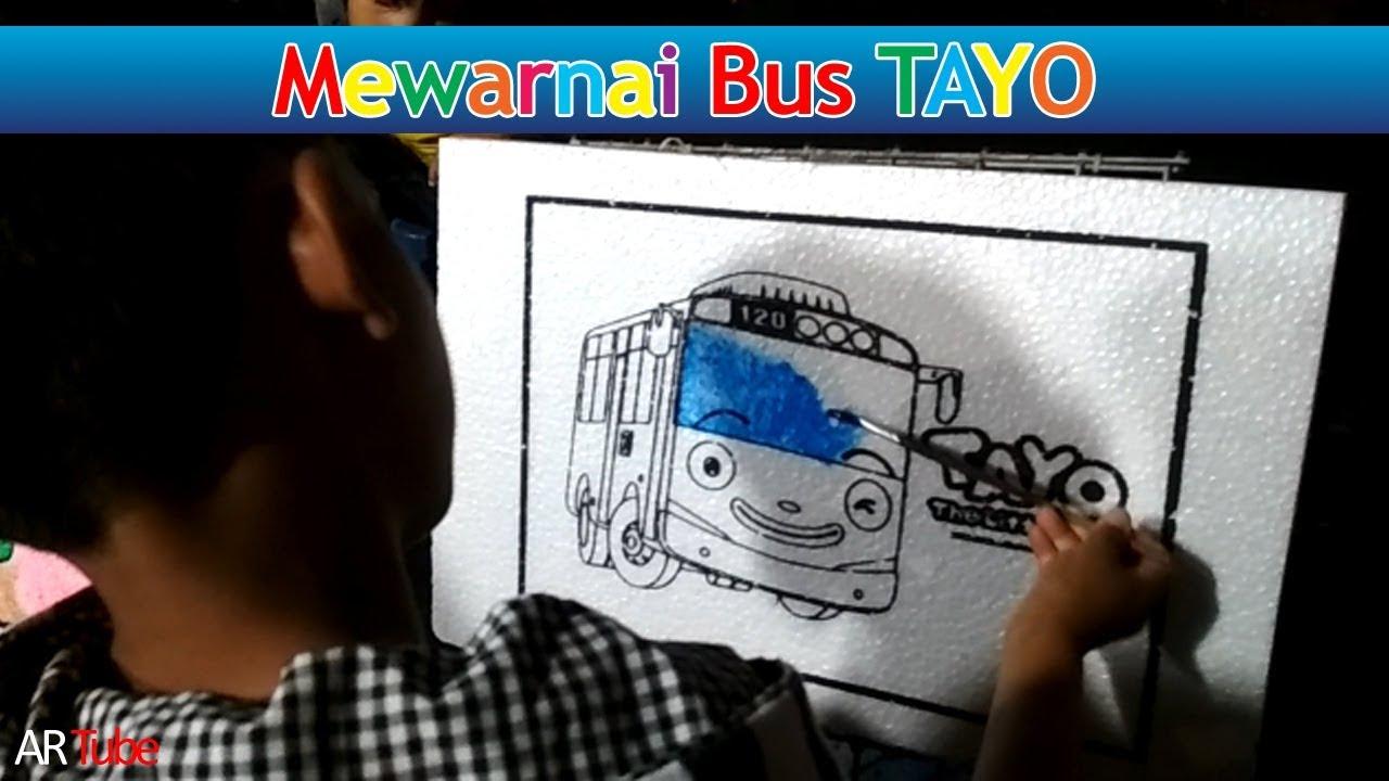 Belajar Mewarnai Gambar Bus Tayo - YouTube