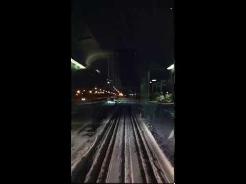 Leaving Via Rail station in Edmonton, January 2013