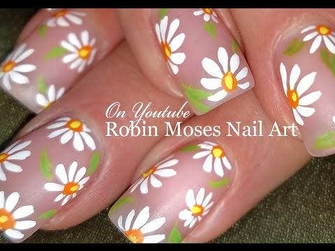 DIY Easy White Daisy Nails | Simple Spring Nail Art Design Tutorial
