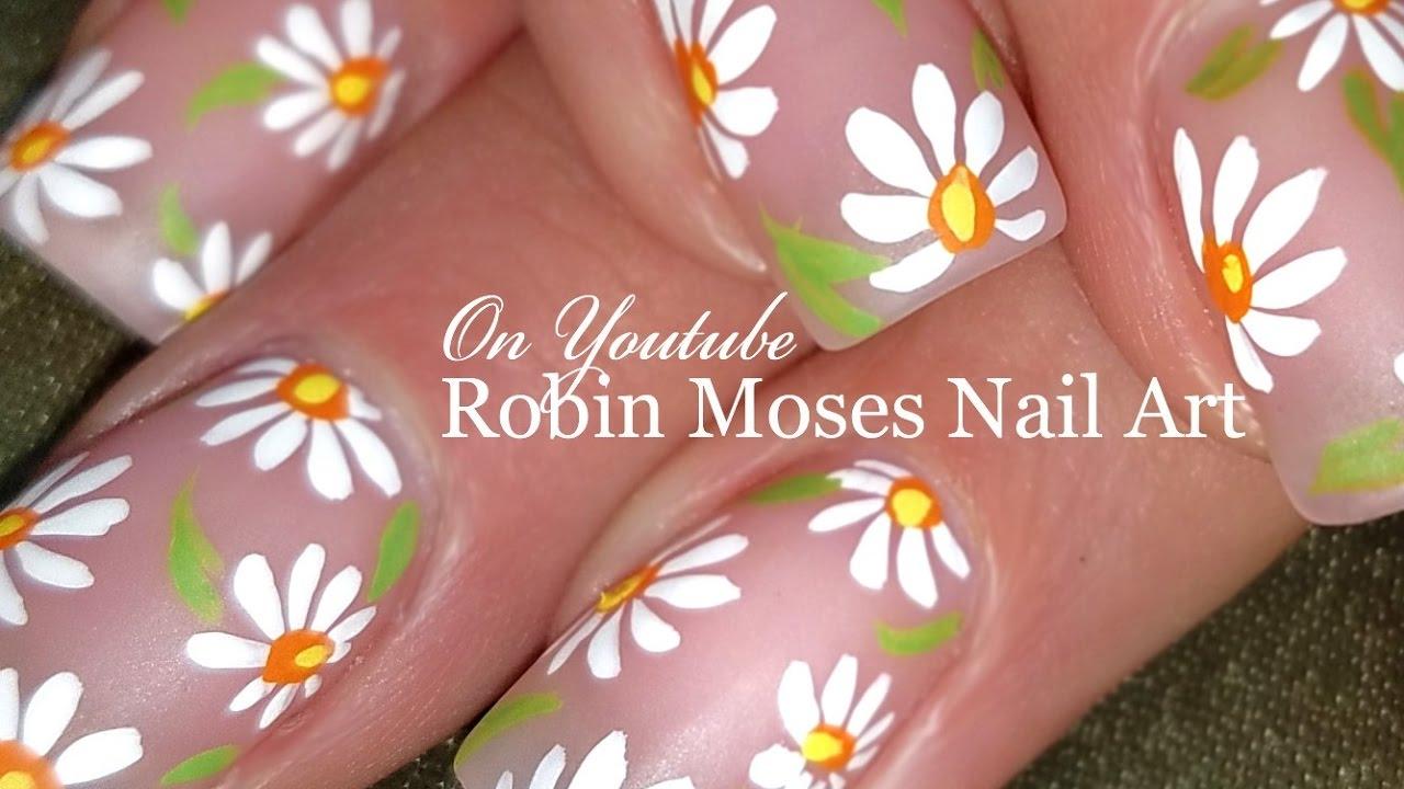 diy easy white daisy nails simple