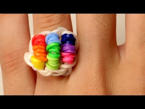 Rainbow Loom Nederlands - Candy Ring - Loom Bands || tutorial, how to, diy, nederlands, loom bands