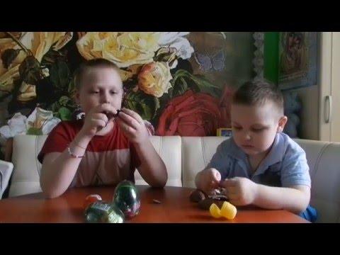 VLOG: Открываем Kinder & яйца...
