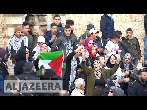 Protests across Palestine against US Jerusalem move