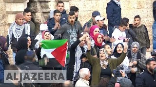 Protests across Palestine against US Jerusalem move