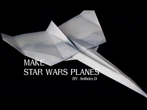 HOW TO MAKE A STAR WARS PLANE ORIGAMI FLYING VEHICLE R2D2