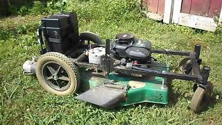 How to make rc remote control lawn mower part 2