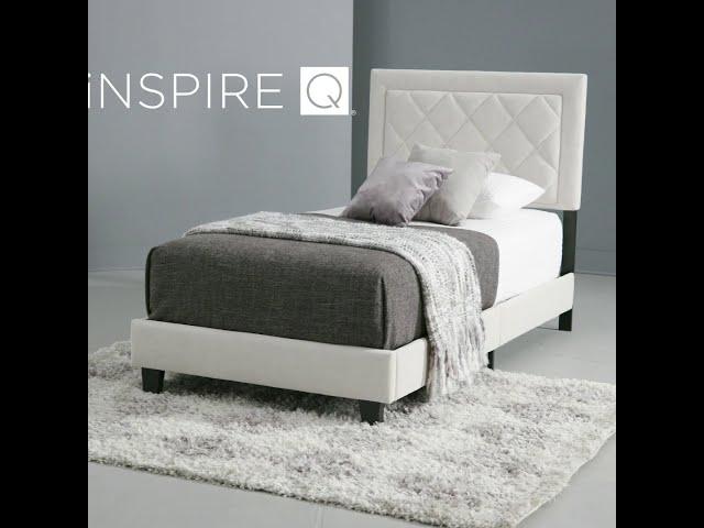 Dartington Velvet Fabric Platform Twin Bed by iNSPIRE Q Modern