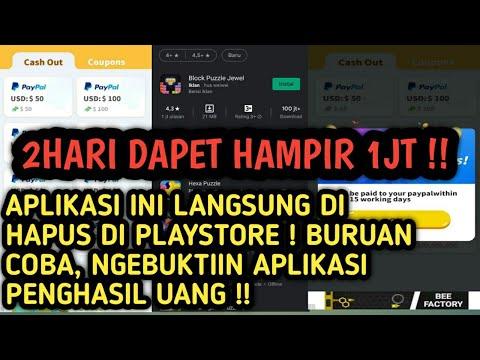 MAIN GAME DAPET DUIT ! 2HARI DAPET 1JT ? APLIKASI INI LANGSUNG HILANG DI PLAYSTORE ! BURUAN !!