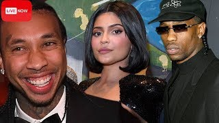 Kylie Jenner PARTIES With Tyga & Travis Scott At Diddy's 50th Birthday Party! | The Morning Tea LIVE