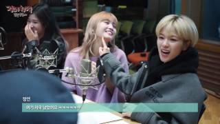 [정오의 희망곡 김신영입니다] TWICE 모모! 생일 선물로 단체 뽀뽀 받다♥  20161110