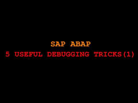 SAP ABAP DEBUG TRICK FOR FUNCTIONAL CONSULTANT