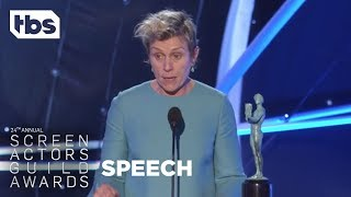 Frances McDormand: Acceptance Speech | 24th Annual SAG Awards | TBS