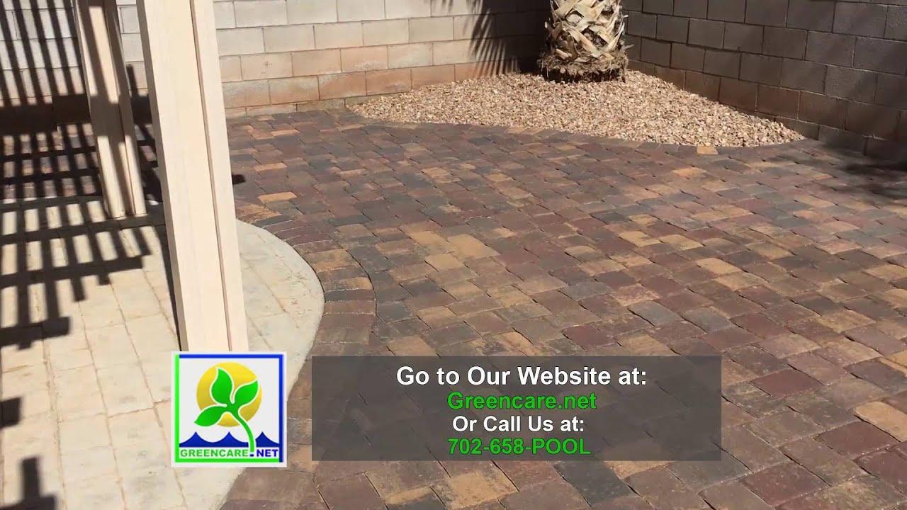 Greencare Reviews Video   Las Vegas Landscape Paver Patio Cover Review