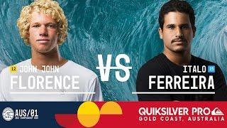 John John Florence vs. Italo Ferreira - Quiksilver Pro Gold Coast 2017 Quarterfinals, Heat 2