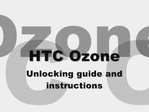 UNLOCK HTC OZONE - How to Unlock HTC Ozone by Unlock Code