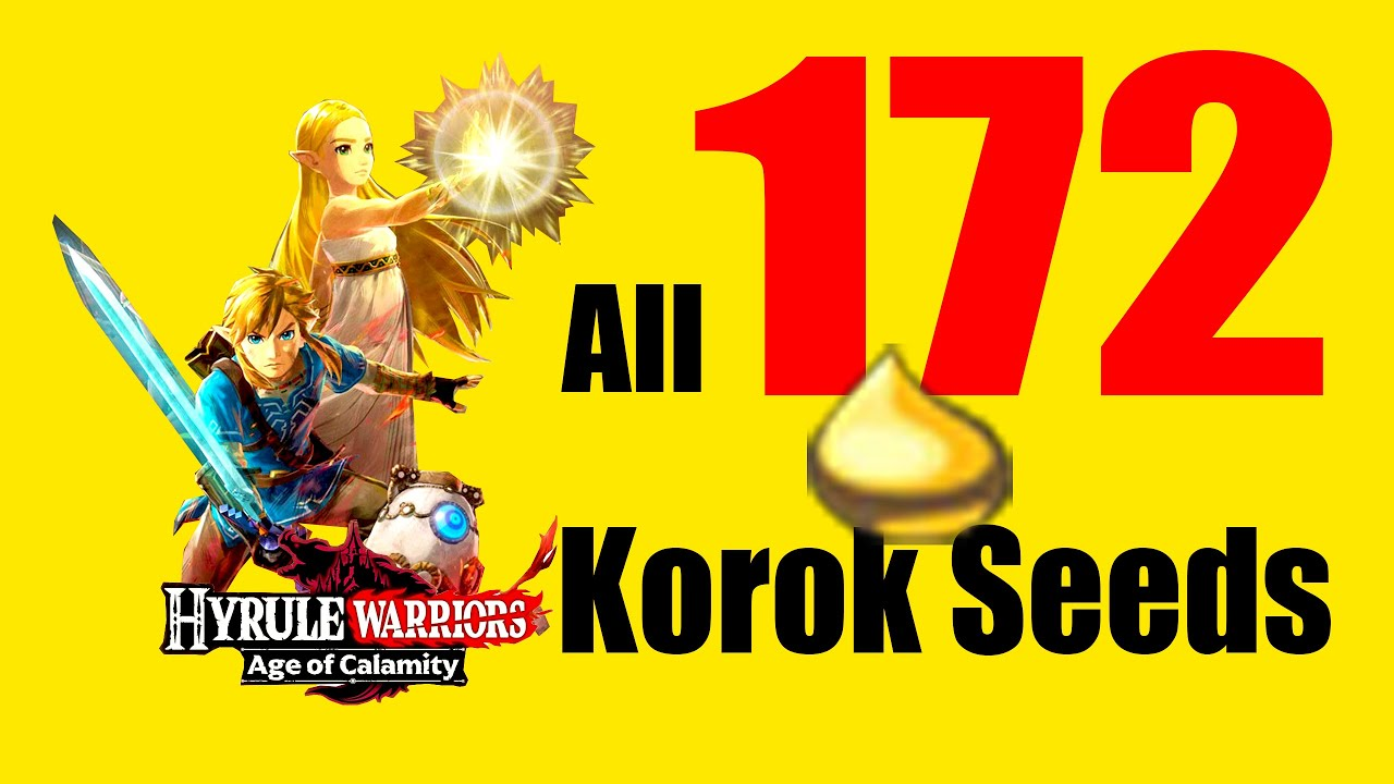 All Korok Seeds Locations In Hyrule Warriors Age Of Calamity Youtube