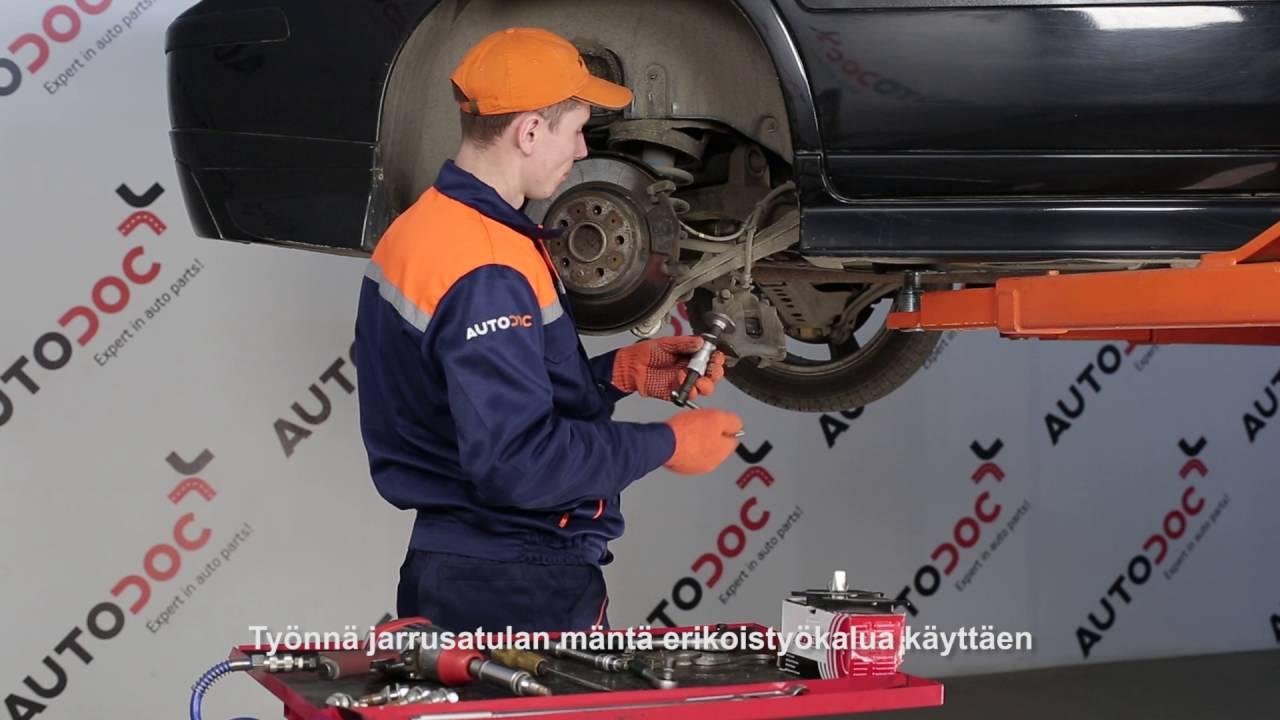 Kuinka Vaihtaa Taka Jarrupalat Volvo S60 Merkkiseen
