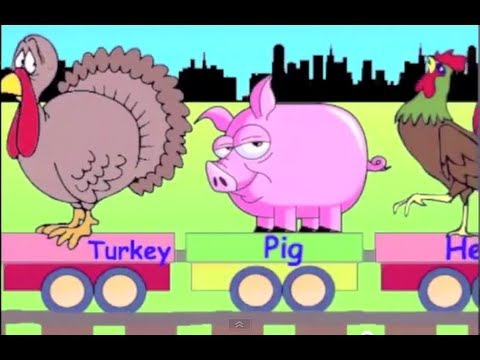 Learn Farm Animal Train Learning Animals Video For Kids