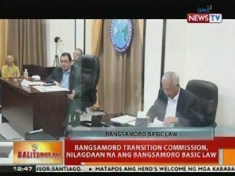 BT: Bangsmoro Transition Commission, nilagdaan na ang Bangsamoro Basic Law