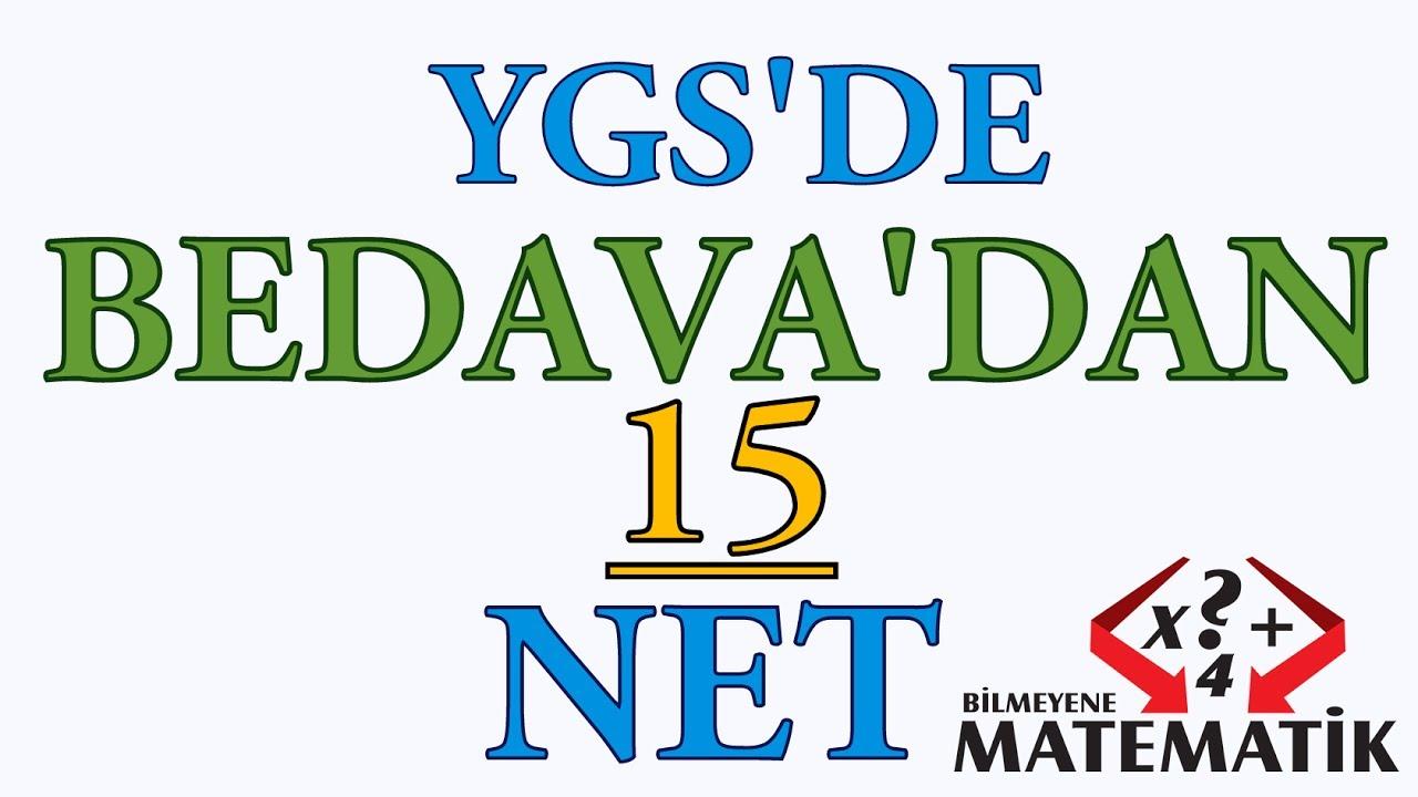 YGS de Bedavadan 15 Matematik Neti
