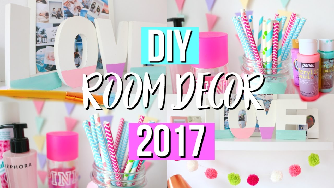 Diy Room Decor diy room decor for 2017!! beautybabe07 - youtube