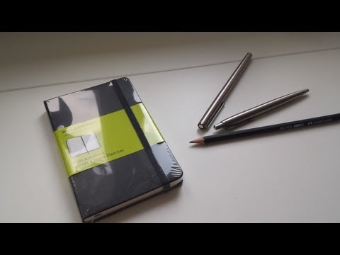 Moleskine Plain Notebook review with writing test