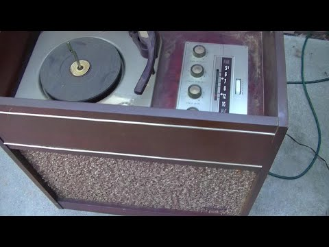 1960 Webcor AM Record Phonograph Console Resurrection |  Mp3 Download