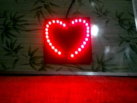 Mạch led trái tim