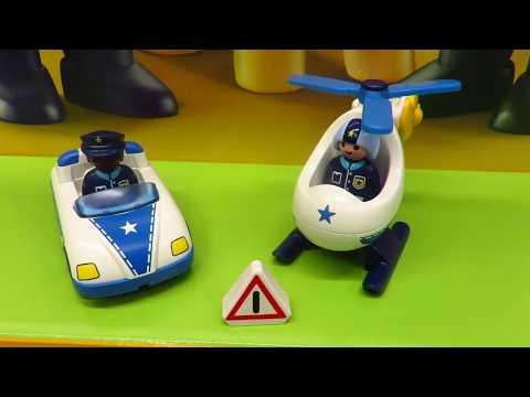 Playmobil123 Neuheiten - 9383 + 9384 - Polizeihubschrauber + Auto - By BesserePreise.com