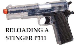 How do I reload (and unload) a Crosman Stinger P311 Airsoft Pistol?