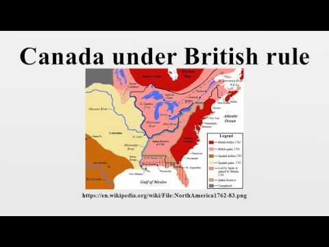 Canada under British rule