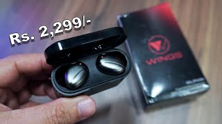 Wings Alpha Touch Sensor Control True Wireless Earbuds for Rs. 2,299 (limited Period)