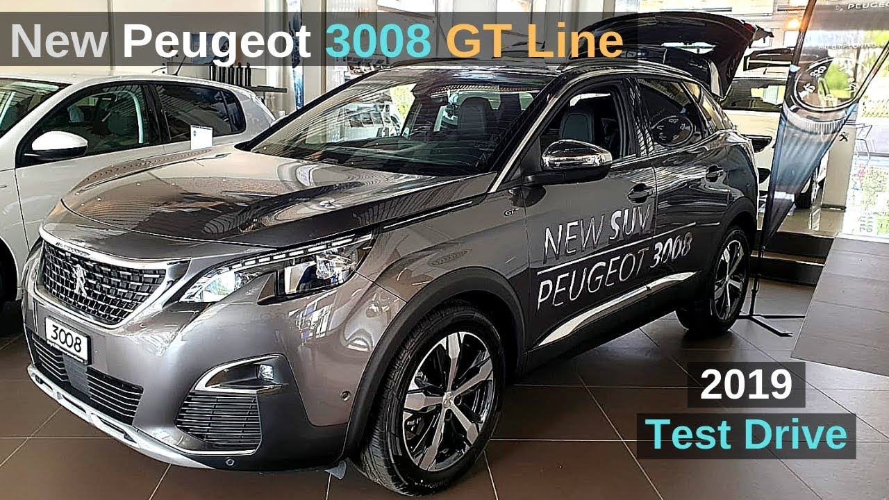 new peugeot 3008 gt line 2019 review interior exterior youtube. Black Bedroom Furniture Sets. Home Design Ideas