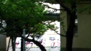 平間に有る『県立川崎工高、野球部』の応援練習風景