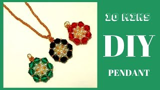 How to make a pendant in 10 minutes. Jewelry making tutorial