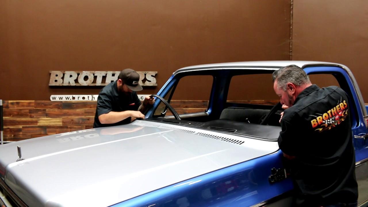 medium resolution of 1973 1987 chevy gmc truck windshield seal rubber install