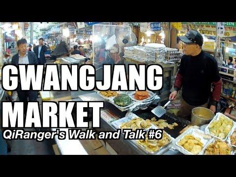 Gwangjang Market: Food and Shopping - QiRanger's Walk and Talk #6 [GoPro Korea]