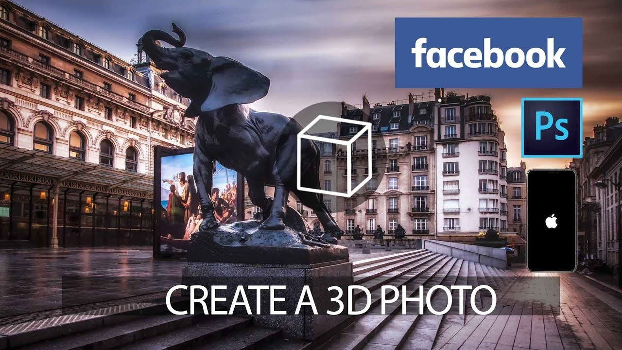 Grow your Facebook with 3D Photos in Photoshop or with an Iphone!
