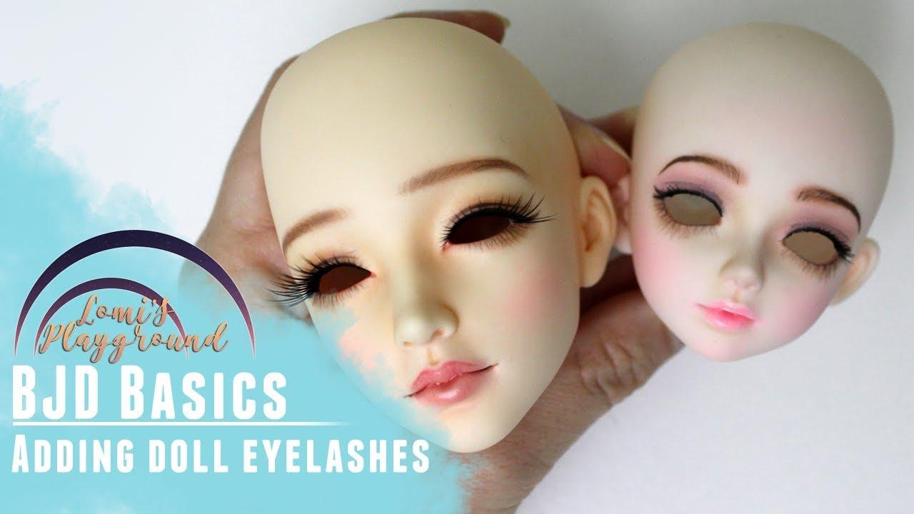 Bjd Basics Applying Or Removing Doll Eyelashes Youtube