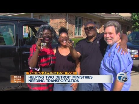 Helping two Detroit ministries needing transportation