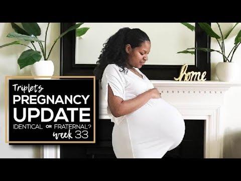 Triplets 33 Week Pregnancy Update   Identical or Fraternal