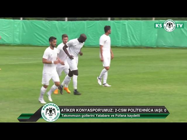 Atiker Konyaspor'umuz özel maçta Romanya'dan CSM Politehnica Iaşı'yı 2-0 mağlup etti
