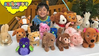 WALKING ANIMALS Toy Collection - Skyheart's Electronic Animals for kids dogs cats children