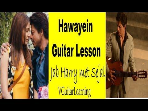 Hawayein Guitar Lesson | Jab Harry met Sejal | VGuitarLearnining | Easy Arijit Singh Tutorial