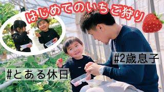2歳児のいちご狩りの様子【ホームビデオ】 thumbnail