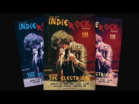 [Photoshop Tutorial]How To Make Indie Rock Festival Flyers in Photoshop