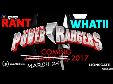 Power Rangers Movie Moved to March 24 2017 WHAT!!!