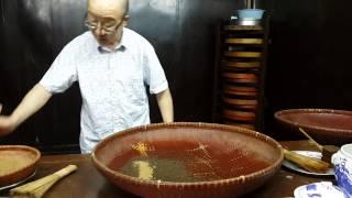 杭州-胡慶餘堂-中藥博物館-水泛丸製作方式