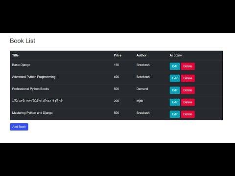 Django Bangla Tutorial CRUD Operation  || Django simple mini Project bangla